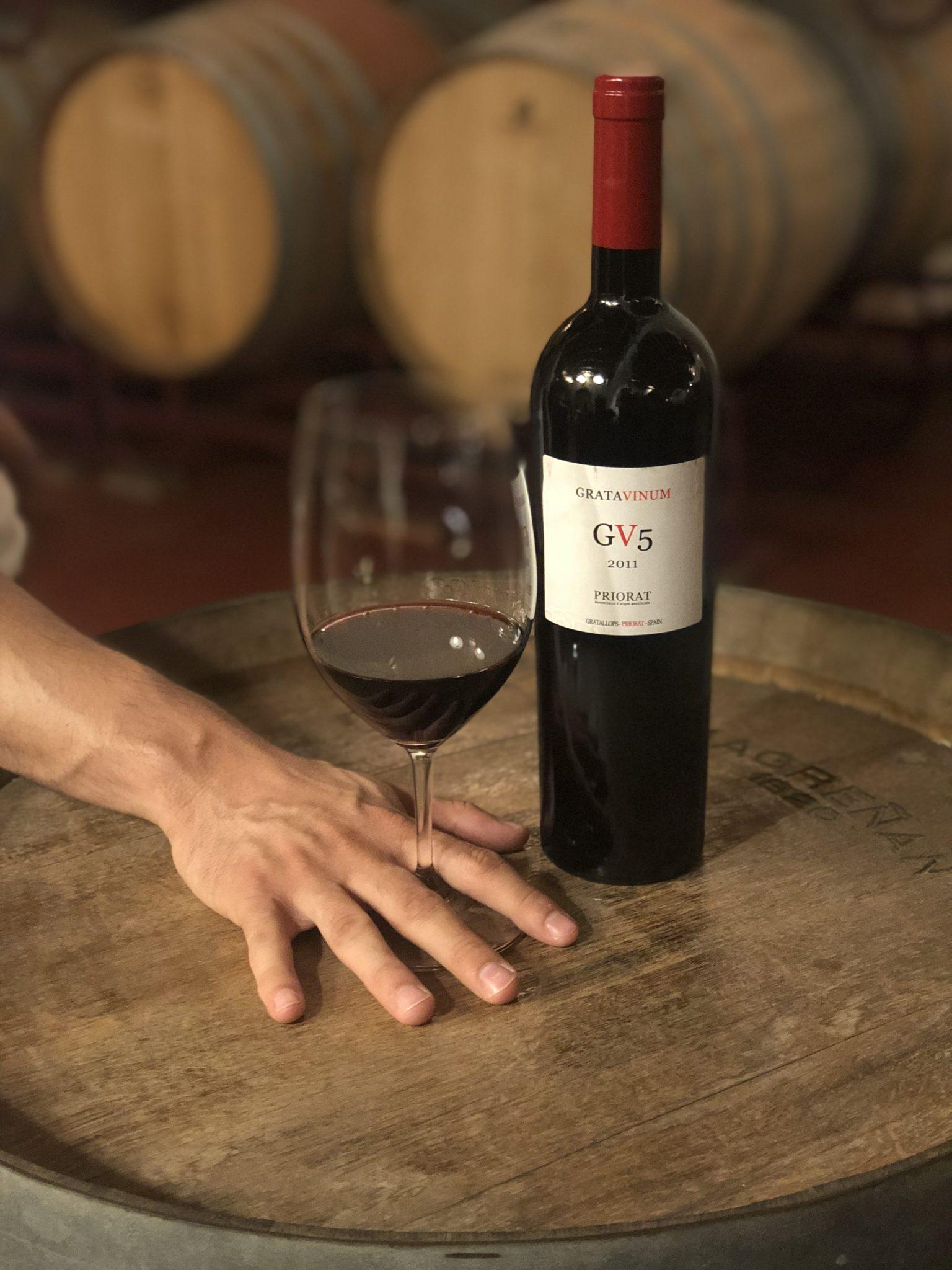 Tast al celler de Gratavinum, vins ecològics al Priorat